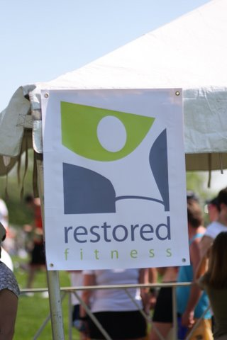 Restored Fitness booth at the GW Classic 10 Miler