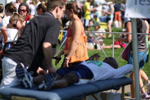 This runner had some knee pain